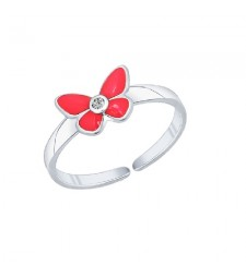 "Кольцо ""Розовые бабочки"""