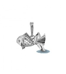 "Кулон ""Серебряная рыбка"""