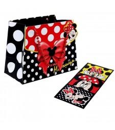 """Пакет-сумка """"Модница"""" Минни-Маус плюс визитки"""