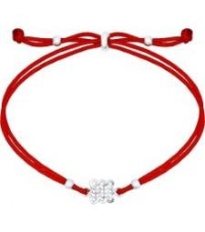 """Браслет  красный шнурок """"Желание"""""""
