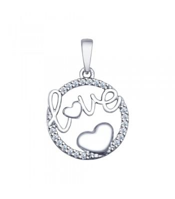 """Серебряная подвеска """"Love"""""""