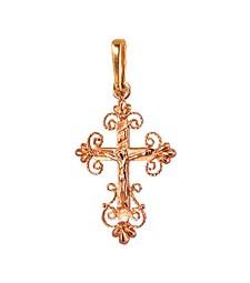 Крестик золотой 210059