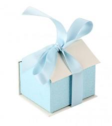 Коробочка-домик голубая