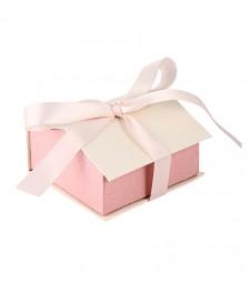 Коробочка-домик розовая